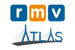 RMV (Registry of Motor Vehicles) and ATLAS logos.